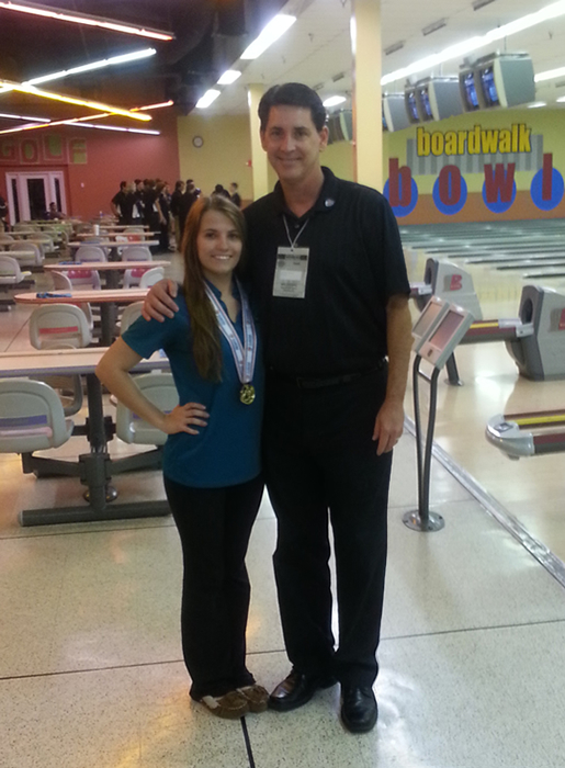 2013 FHSAA Girls State Singles Champion Krystina Nealon with Coach Mike Nyitray